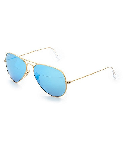 Ray-Ban Polarized Mirror Aviator Sunglasses