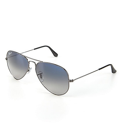 5a60065f6f2 Ray-Ban Polarized Metal UV Protection Aviator Sunglasses
