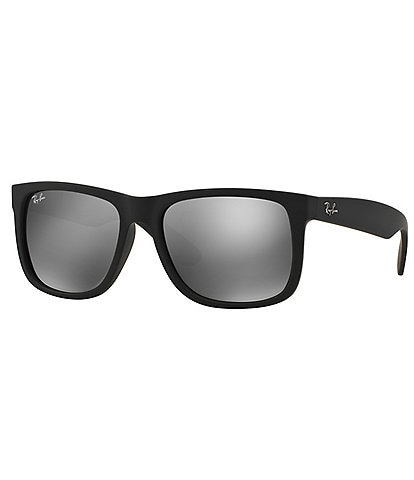 Ray-Ban Rubber Justin UVA/UVB Protection Flash Mirror Sunglasses