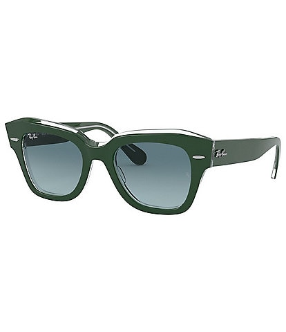 Ray-Ban State Street Square Lens Acetate Frame Sunglasses