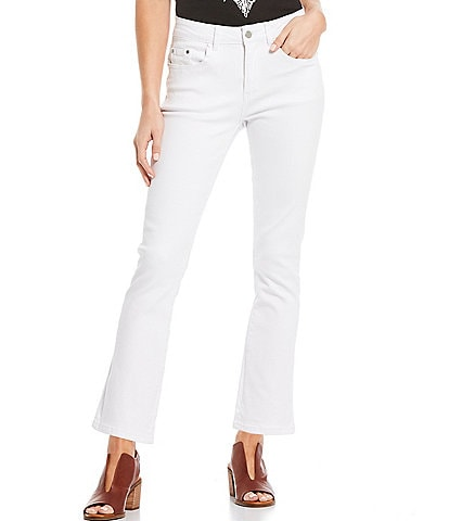 Reba Guiliana Flared Leg Mid Rise Ankle Jeans