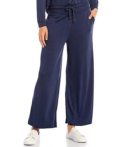 Reba Jersey Mid Rise Wide Leg Lounge Pants