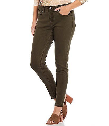 Reba Tanya Skinny Stretch Ankle Mid Rise Jeans