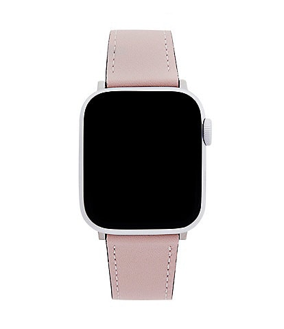REBECCA MINKOFF Blush Pink Leather Apple Watch Strap