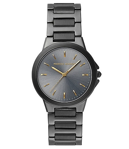 REBECCA MINKOFF Cali Grey Ion Plated Tone Bracelet Watch