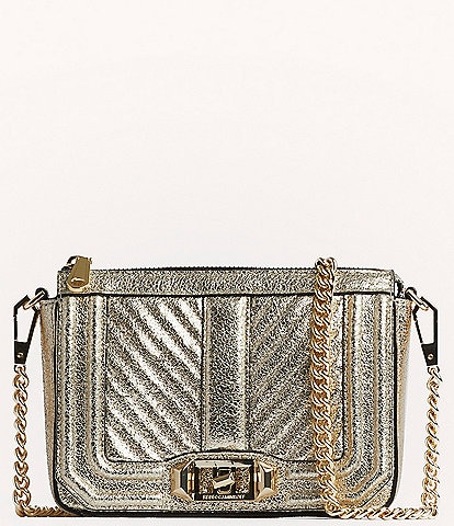 REBECCA MINKOFF Chevron Quilted Mini Love Shoulder Bag