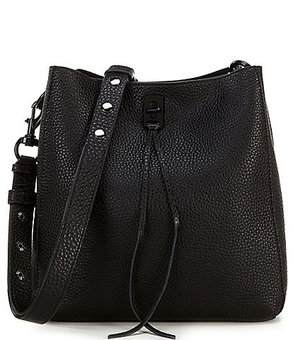 REBECCA MINKOFF Darren Leather Studded Shoulder Bag