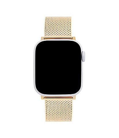 REBECCA MINKOFF Goldtone Mesh Apple Watch® Strap