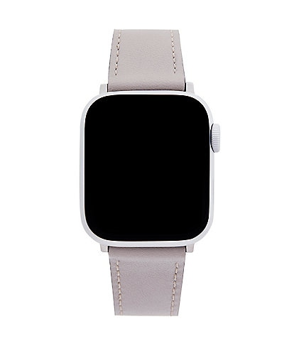 REBECCA MINKOFF Grey Leather Apple Watch® Strap