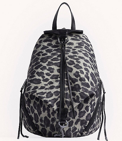 REBECCA MINKOFF Julian Nylon Leopard Print Backpack
