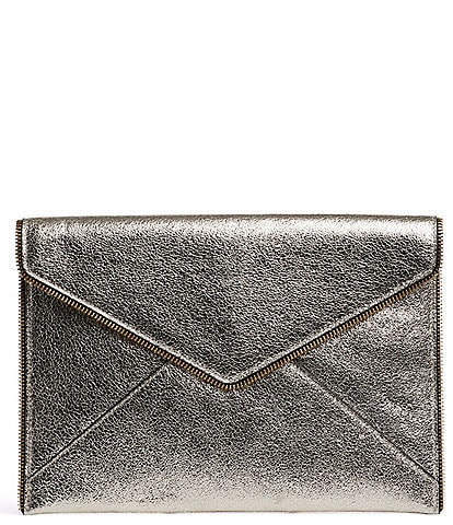 REBECCA MINKOFF Leo Metallic Envelope Clutch