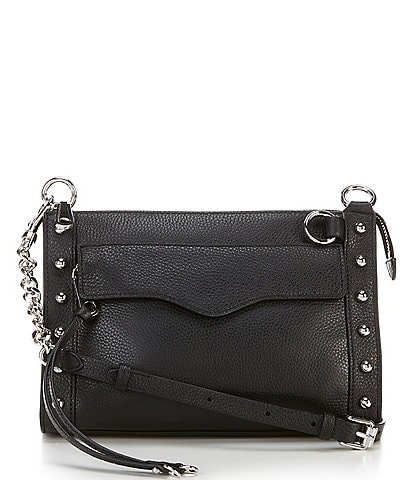 REBECCA MINKOFF M.A.B. Studded Leather Crossbody Bag
