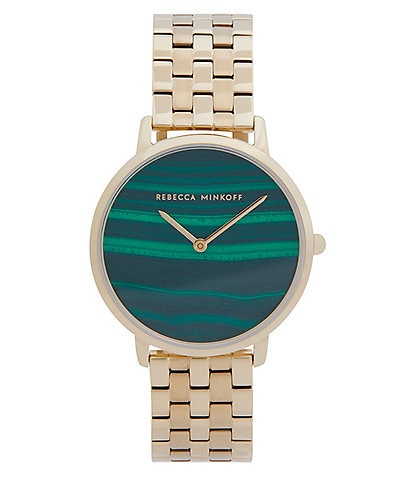 REBECCA MINKOFF Major Gold Stainless Steel Bracelet Watch