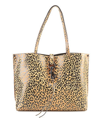 REBECCA MINKOFF Megan Leopard Print Leather Tote Bag
