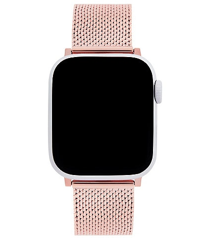 REBECCA MINKOFF Rose Gold Mesh Apple Watch® Strap