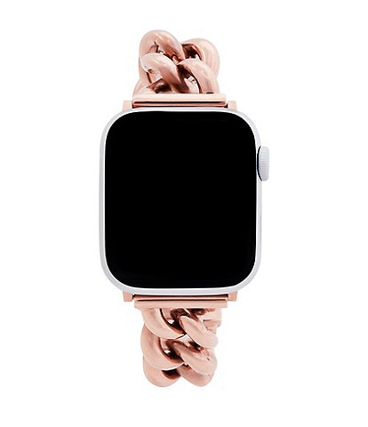REBECCA MINKOFF Rose Gold Chain Bracelet Apple Watch® Strap