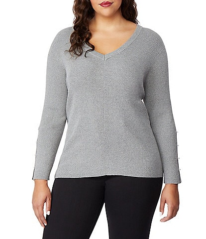 Rebel Wilson X Angels Plus Size Pearl Sleeve Sweater