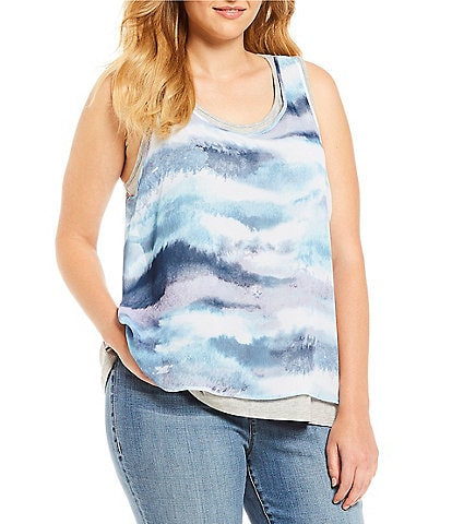 Rebel Wilson X Angels Plus Size Printed Layer Tank
