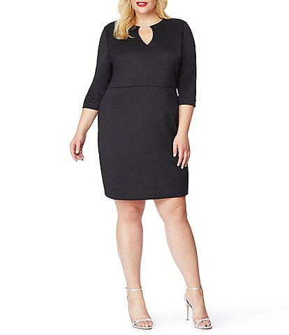 Rebel Wilson X Angels Plus Size Scuba Keyhole Neck Shift Dress
