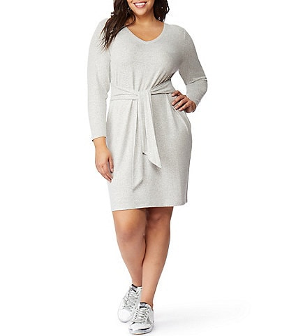 Rebel Wilson X Angels Plus Size Sweatshirt Tie Waist Dress