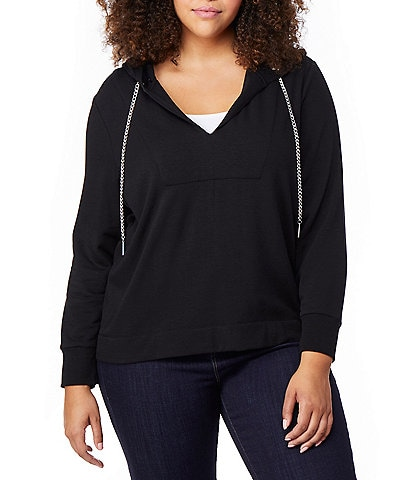 Rebel Wilson X Angels V-Neck Chain Detail Hoodie