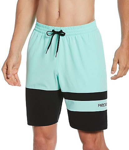 Redsand Elastic Waist Colorblock 20#double; Outseam Volley Shorts