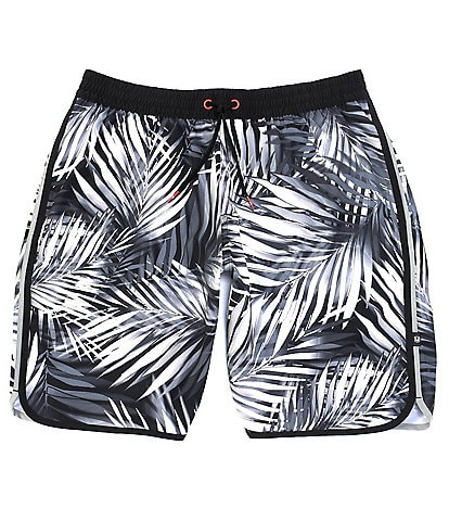 Redsand Palm Print 20#double; Outseam Volley Shorts