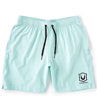 Redsand Solid Core Stretch 18#double; Outseam Volley Shorts