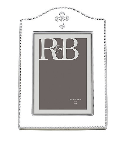 Reed & Barton Abbey Cross Silver 5#double; x 7#double; Picture Frame