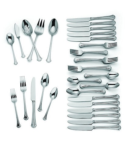 Reed & Barton French Classic 65-Piece Stainless Steel Flatware Set