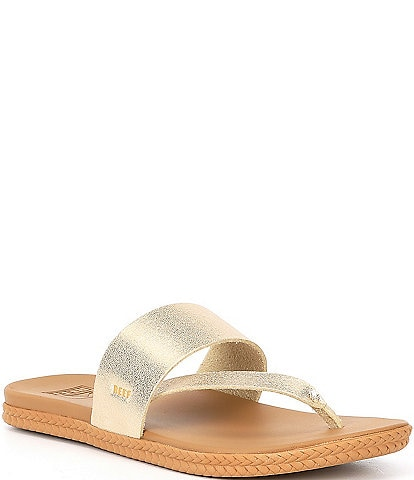 Reef Cushion Bounce Sol Metallic Leather Sandals