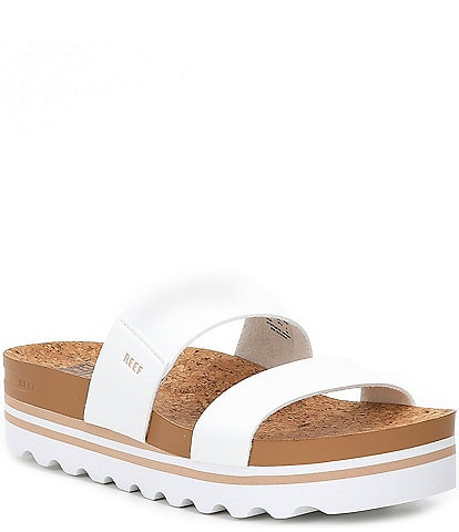 Reef Cushion Bounce Vista Hi Two-Banded Flatform Slides