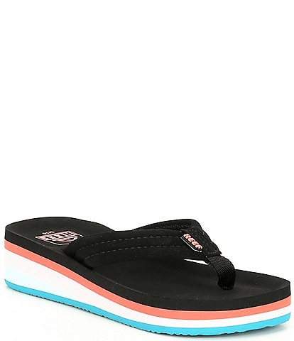 Reef Girls' Ahi Wedge Flip Flops Toddler