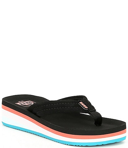 Reef Girls' Ahi Wedge Flip Flops Youth
