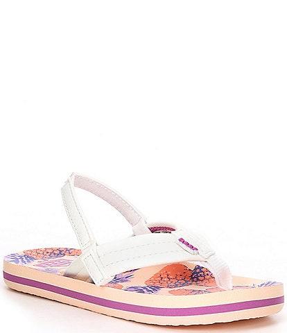 Reef Girls' Little Ahi Pineapples Flip Flops (Toddler)
