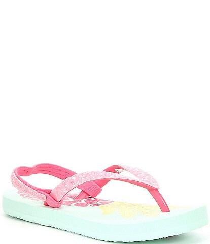 Reef Girls' Little Stargazer Pineapple Flip Flops (Toddler)