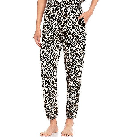 Refinery29 Animal Print French Terry Jogger Sleep Pants