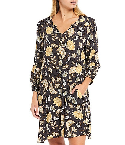 Refinery29 Floral Print Woven Sleep Shirt
