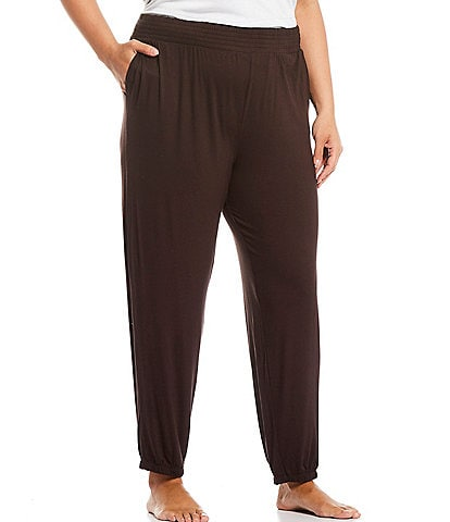 Refinery29 Plus Solid French Terry Jogger Lounge Pants