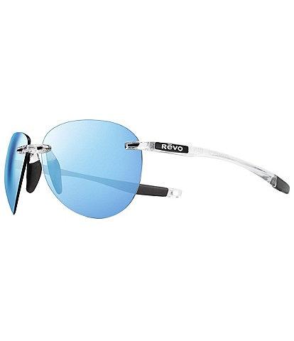Revo Descend Aviator Polarized 62mm Sunglasses