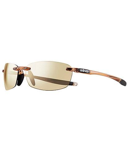 Revo Descend E Polarized 64mm Rectangle Sunglasses