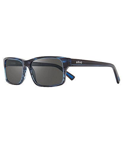 Revo Finley Rectangular Polarized 57mm Sunglasses