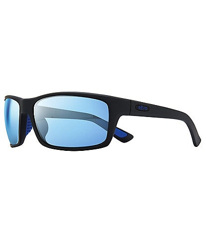 Revo Rebel Rectangular Polarized 64mm Sunglasses
