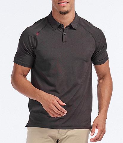 RHONE Delta Pique Short-Sleeve UV Protection Polo Shirt