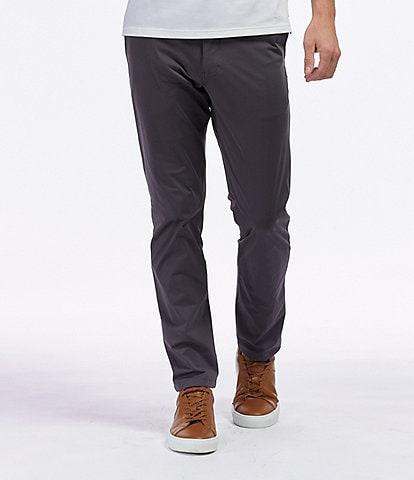 RHONE Slim-Fit Flat-Front Commuter Stretch Pants