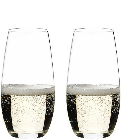 Riedel O Wine Tumbler Champagne Stemless Glasses, Set of 2