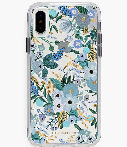 Rifle Paper Co. Clear Garden Party Blue iPhone Case