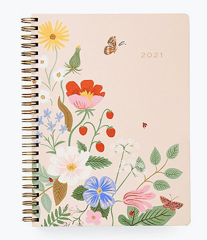 Rifle Paper Co. Strawberry Fields 2021 12-Month Softcover Spiral Planner