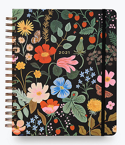 Rifle Paper Co. Strawberry Fields 2021 17-Month Hardcover Spiral Large Planner