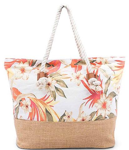 Rip Curl Canvas Multi Floral Beach Bag